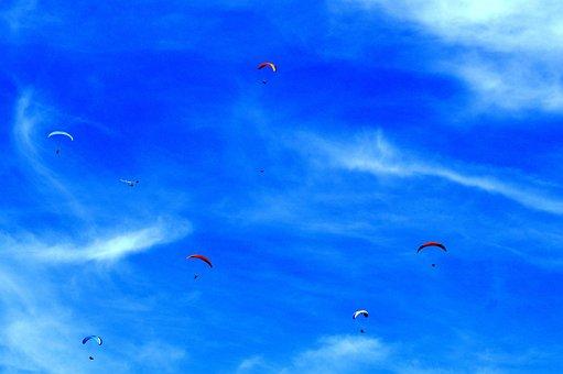 Paraglider, Hang Glider, Hang Gliding, Paragliding