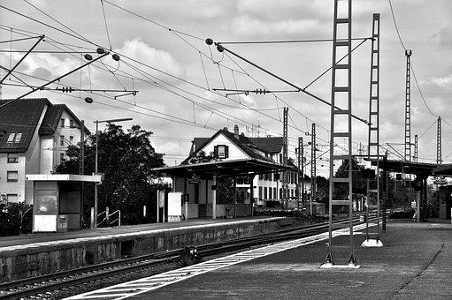 Railway Station, Old, Seemed, Freight Transport