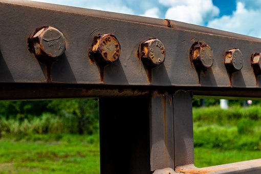 Rust, Bold, Nut, Bridge, Crossbeam, Rail
