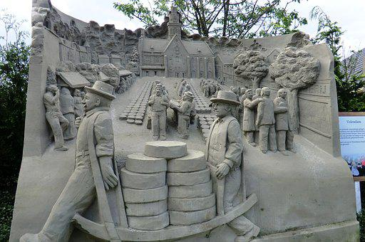 Sand Sculpture, Cheese Market, Alkmaar, Sand, Art
