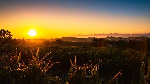 Sunrise, Travel, Nature, Landscape, Summer, Sea, Sky