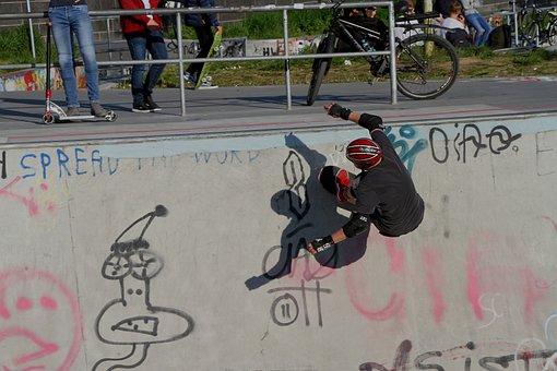 Human, Skater, Skatepark, Frankfurt, Ostend
