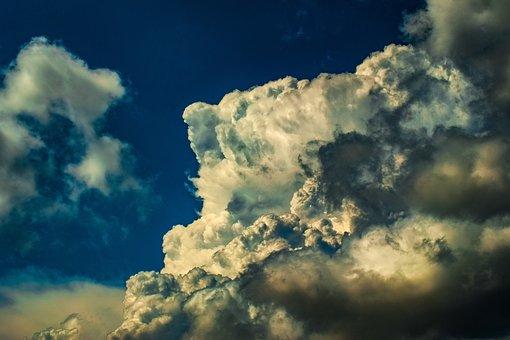 Clouds, Dramatic, Cumulus, Sky, Weather, Nature, Light