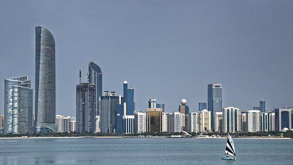 U A E, Abu Dhabi, Skyline, Skyscrapers, Architecture