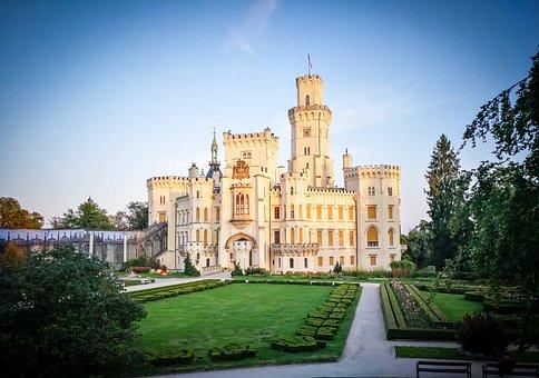 Hluboka, Czech Republic, Castle, South Bohemia