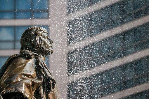 Fountain, Water, Wet, Old, Splash, Drops