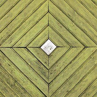 Door, Structure, Wooden Door, Square, Wood, Green