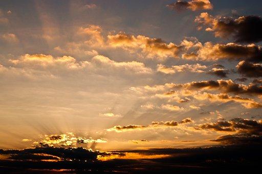 Clouds, Sky, Morning, Landscape, Sunrise, Mood