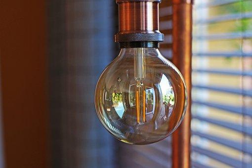 Light Bulb, Lamp, Floor Lamp, Vintage, Trend, Light