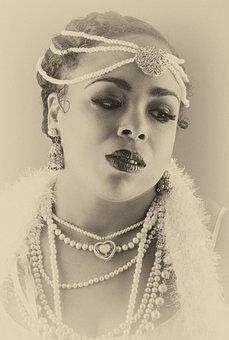 Josephine Baker, Portrait, Vintage, Face, Woman