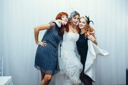 Wedding, Bride, Woman, Marriage, Women, Dress, People