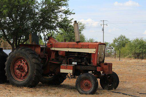 Tractor, Old, Forgotten, Forget, Abandoned, Age, Decay