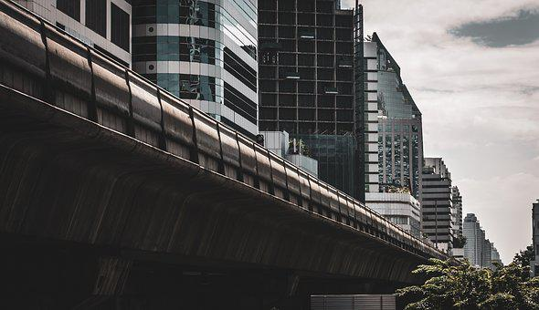 Bangkok, Bts, Station, Railway, Urban, Thailand