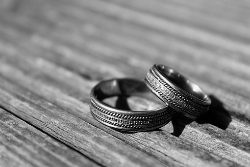Black And White, Wedding Rings, Marriage, Love, Weding