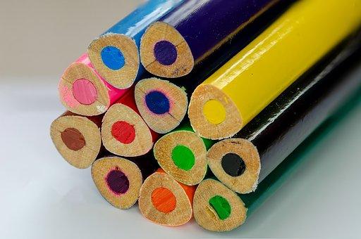 Crayon, Pencil, Crayons, Colorful, Farbstifte, Blue