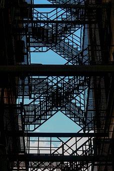 Building, Fire Escape, Architecture, Stairs, Urban