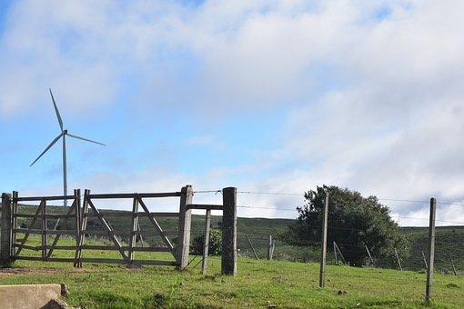 Mill, Portress, Paddock, Green, Celeste, Peaceful, Sky