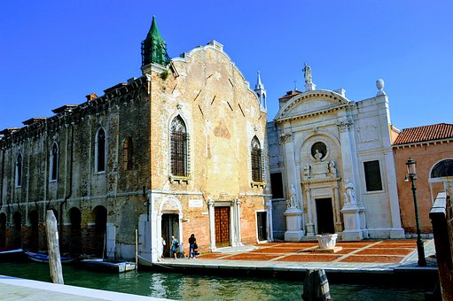Venice, Church, Water, Italy, Architecture, City