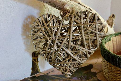 Heart, Wood, Natural, Nature, Driftwood, Decoration