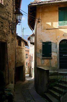 Village, Italy, Lombardy, Alley, Eng, Architecture