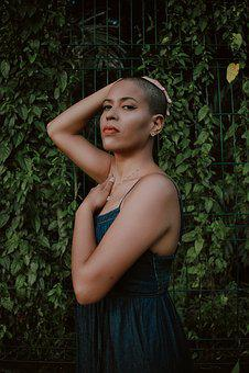 Portrait, Woman Bald, Face, Head, Elegant, Model, Human