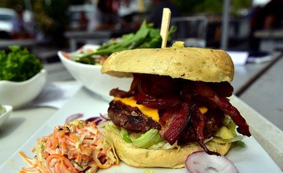 Hamburger, Eat, Snack, Fast Food, Food, Delicious