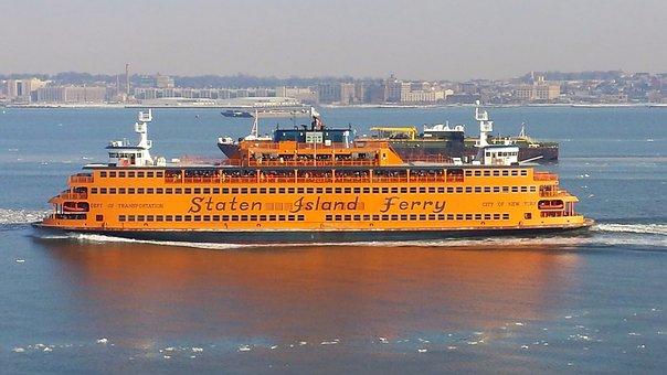 Staten, Island, Ferry, Water, Ship, Manhattan