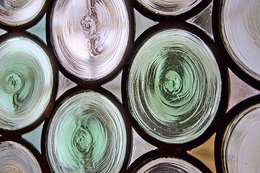 Glass, Medieval, Bubbles, Window, France, Light