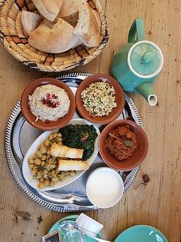 Food, Bread, Teapot, Hummus, Tahini, Meals, Plate, Menu