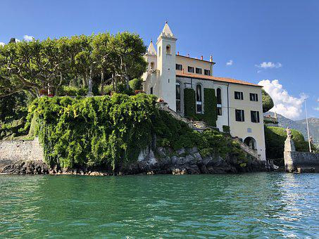 Italy, Tremezzo, Vacations, Lake, Building, Rest