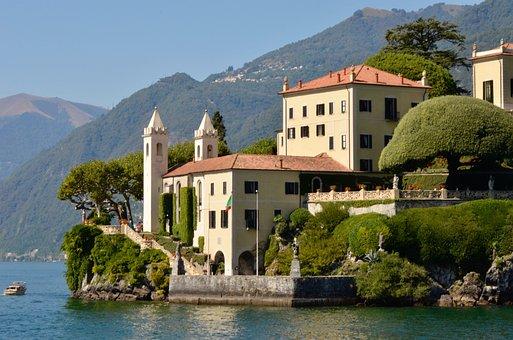 Villa Balbianello, Italy, Architecture, Water