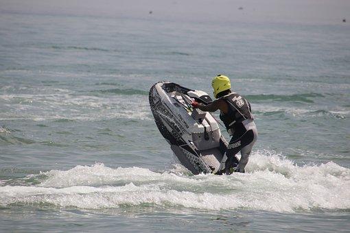 Jet Ski, Water Sport, Water, Sea, Jet-ski
