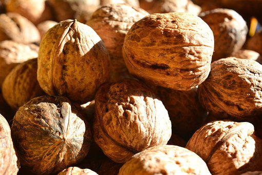 Walnut, Detail, Foodstuffs, Christmas, Light, Nuts