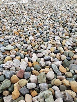 Beach, Walk, Impressions, Morecambe, Pebbles, Stones
