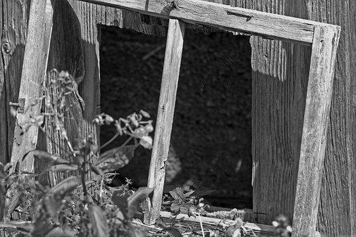 Impression Window, Barn, Old, Wood, Scale, Decay