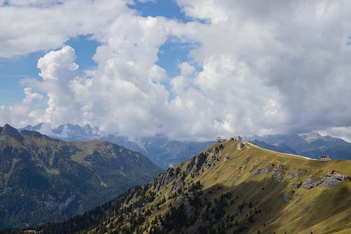 Dolomites, Mountains, View, Italy, Landscape, Panorama