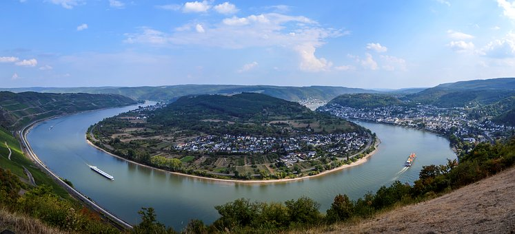 Germany, River, Mosel, Water, Landscape, Panorama