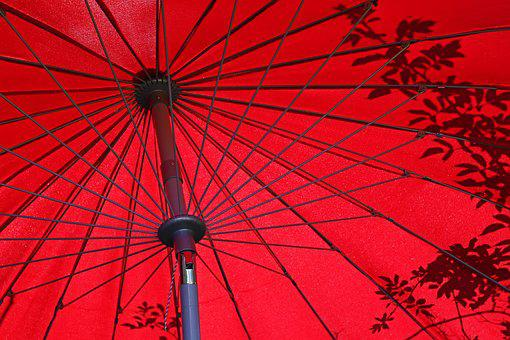Parasol, Summer, Shadow, Vacations, Red Umbrella