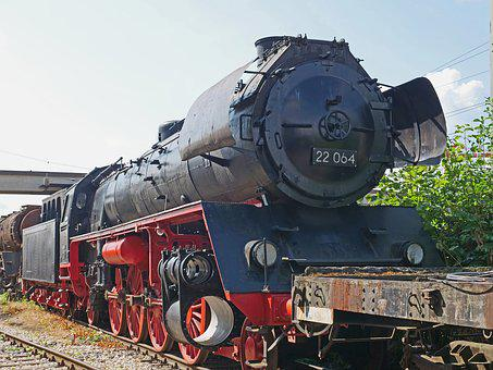 Steam Locomotive, Museum, Workup, Prussian P10, Rekolok