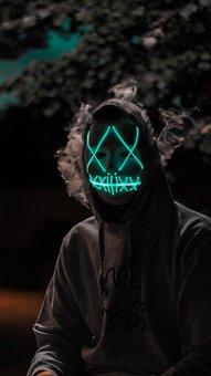 Purge, Light, Mask, Halloween, Dark, Head, Face, Human