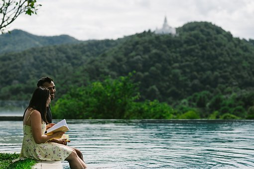 Books, Reading, Couples Reading Books, Couple, Romance