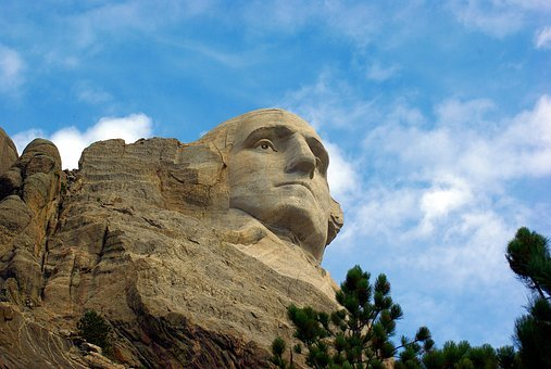 George Washington On Rushmore, Mount, Rushmore, Usa