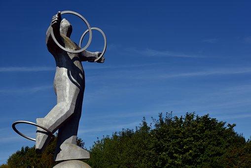 Juggle, Statue, Sculpture, Art, Figure, Artwork