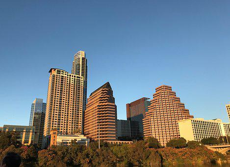 Austin, Texas, Skyline, Lady Bird Lake, Downtown, City