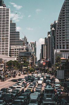 Bangkok, Asoke, Bts, Traffic, Thailand, City, Travel