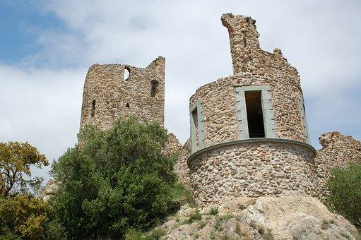 Castle, Olive Tree, Ruins, Tourist, Civilization