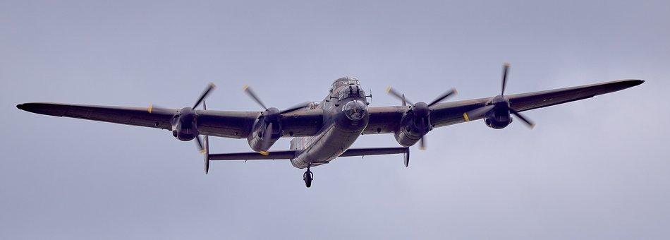 Lancaster, Vintage, Ww2, Bomber, Merlin, Bbmf, Flight