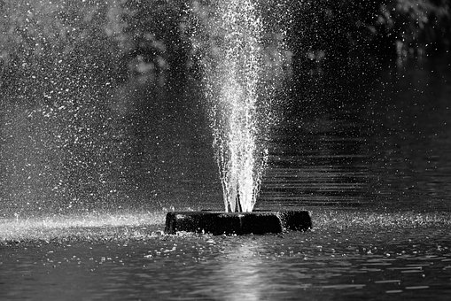 Fountain, Water, Pond, Spray, Water Drops, Bubble