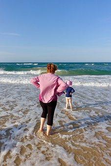 Beach, Surf, Sea, Waves, Holidays, Water, Ocean, Mood