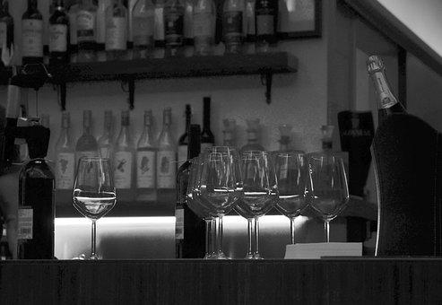 Bar, Wine Glasses, Wine, Wine Glass, Restaurant